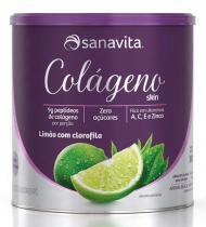 Colágeno Hidrolisado - Sanavita - Limão + Clorofila - 300g -