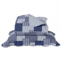 Colcha Casal Jeans Ii 220 X 240Cm Azul Santista -