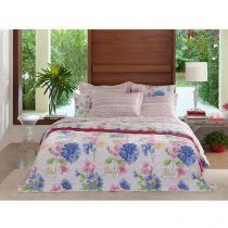 Colcha/Cobre-Leito Queen Size Santista Home Design - Mila 3 Peças 100% Algodão