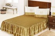 Colcha Império Casal Dourado com 5 peças Poliéster e Polipropileno - Aquarela