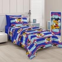 Colcha Infantil Crepe Mickey Navy 150 Fios - Santista - Mickey Navy - Santista