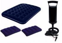 Colchão Inflável Casal Bestway + Bomba de Inflar Manual Q1 + 02 Travesseiros - Bestway