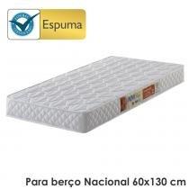 Colchão para Berço Padrão Nacional D18 Branco - Antiácaro, Antifungo e Antialérgico - 60x130x10cm - Ecoflex