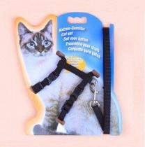 Coleira Peitoral para Gato + Guia de Passeio - Pet import