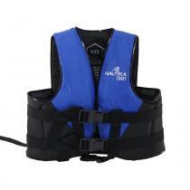 Colete salva vidas 10 kg azul e preto - COAST - Nautika
