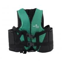 Colete salva vidas 10 kg verde e preto - COAST - Nautika