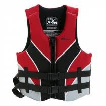 Colete salva vidas 40/50kg preto e vermelho - VENTURA - Nautika - Nautika