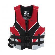 Colete salva vidas 50/60 kg preto e vermelho - VENTURA - Nautika -