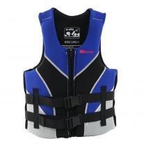Colete salva vidas 60/70 kg preto e azul - VENTURA - Nautika -