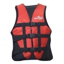 Colete Salva Vidas com Trava Lock Coast 20kg Vermelho e Preto Nautika - Nautika