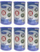 Combo 06 Unidades Cartucho B Intex Refil Bomba Filtro 9462 -