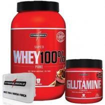 a9a9d8f6c Combo 100 Whey Chocolate + Glutamina + Porta Caps - Integralmédica -  Integralmedica