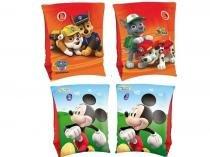Combo 2 pares de Boia de Braço inflável para crianças Mickey e Patrulha Canina Bestway -