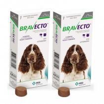 Combo 2 unidades bravecto cães de 10 a 20kg (500mg) - Msd saúde animal