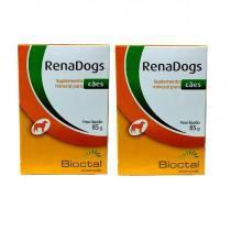 Combo 2 unidades suplemento mineral para cães renadogs 85g - bioctal -