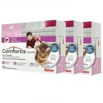 Combo 3 unidades antipulgas comfortis 140mg para cães de 2,3 a 4,5kg e gatos de 1,9 a 2,7kg - Elanco