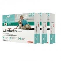 Combo 3 unidades antipulgas comfortis 560mg para cães de 9 a 18kg e gatos de 5,5 a 11kg - Elanco