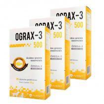 Combo 3 unidades ograx-3 de 500mg (30 capsulas) - avert -