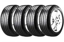 Combo 4 Pneus Bmw X1 Kia Optima 225/45r18 91v Runflat P7 Cinturato Pirelli -