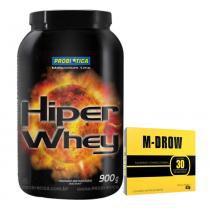 Combo Aux. Força Hiper Whey Probiótica Chocolate + M-Drow Intlab - Probiótica