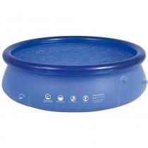 Combo com piscina inflavel 4600 litros + filtro 110v + forro + capa - Mor