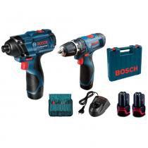 Combo De Parafusadeiras À Bateria Bosch 12v-li -