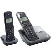 Combo DUO de Telefone Digital sem Fio Moto 3000 com Identificador de Chamadas - Motorola - Motorola