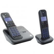 Combo DUO de Telefone Sem Fio Moto 700 Identificador de Chamada- Motorola - Motorola