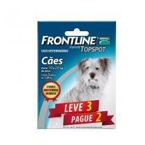 Combo Frontline Top Spot Cães 10 a 20kg Merial 3 pipetas - Descrição marketplace -