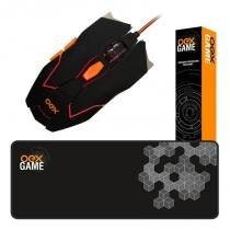 Combo gamer mouse 5200dpi c/ macro + mouse pad 79x30cm - Oex