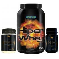 Combo Hiper Whey Probiótica Chocolate + No2 Golden + Creatina Golden - Probiótica