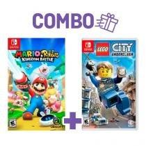 Combo mario + rabbids: kingdom battle + lego city undercover - switch - Nintendo