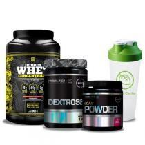 Combo Massa Muscular 6 - Dextrose - 1 Kg - Probiótica + BCAA Powder - 200g - Probiótica + 3W Whey Protein - 2,26Kg - Probiótica + Coqueteleira Shaker - 600ml - Universal - Combo