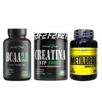 Combo - Massa Muscular - Metildrol 60 Tablets - Creatina F2 300G - Bcaa 2.8 F2 120 Capsulas - F2-force full