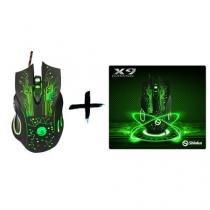 Combo mouse X9 2400 DPI e Mouse pad X9 - Shinka