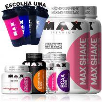 Combo Para Emagrecer Bcaa + Colageno + Shake + Termogenico - Max titanium