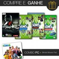 Combo pc 3 the sims + formula 1 2013 classic edition - Jogos pc