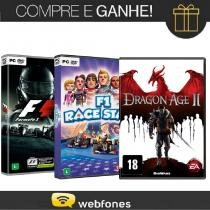 Combo pc formula 1 2013 + pc f1 race stars + pc dragon age 2 - Jogos pc
