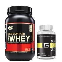 Combo Whey Gold Standard 909G Optimum Chocolate + Gmax Intlab - Optimum