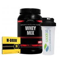 Combo Whey Mix Baunilha Nitech + M-Drow Intlab + Coqueteleira Saúde Já - Nitech Nutrition