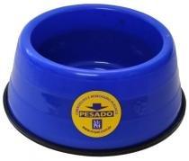 Comedouro Bebedouro Plástico Pesado Mr Pet Azul Tamanho G -