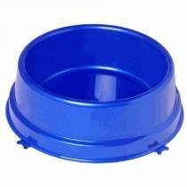 Comedouro Plástico Médio Ossinhos Christino Azul 2000 ml -