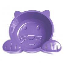 Comedouro Plástico Pet Injet Cat Face 600 mL - Lilás -