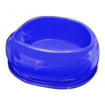 Comedouro plástico smart azul - Furacão pet