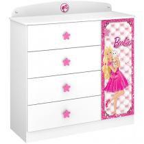 Cômoda Infantil 1 Porta 4 Gavetas Pura Magia - Star Barbie