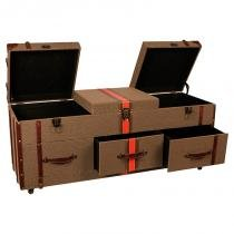 Cômoda practicality de madeira revestida de tecido com 6 gavetas - Maria pia casa