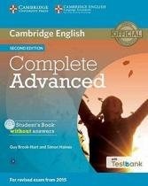 Complete advanced sb without answers with cd-rom with testbank - 2nd ed - Cambridge university