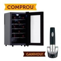 Compre Adega Termoelétrica EasyCooler 127V 18 Garrafas e Ganhe Saca Rolhas Elétrico Cuisinart - Easy Cooler