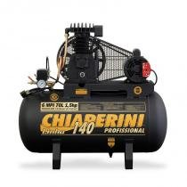 Compressor de ar 1,5 hp 6 / 70 litros 140 lb bivolt chiaperini - Chiaperini