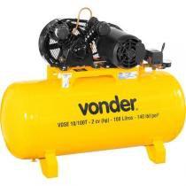 Compressor de ar 10 pcm 2HP 100 lbf/pol² 100 litros trifásico 127/220V profissional vdse10/100T - Vonder - Vonder